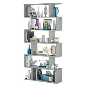 Libreria decorativa e funzionale colore cemento cm 80x25x192h Mod ATHENA