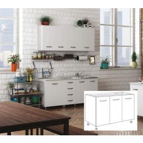 Kit cucina Sottolavello 3 ante colore bianco cm 120x50x85h
