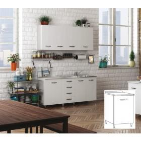 Kit cucina mobile base 1 anta colore bianco cm 40x50x85h