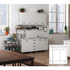 Kit cucina mobile base 2 ante colore bianco cm 80x50x85h
