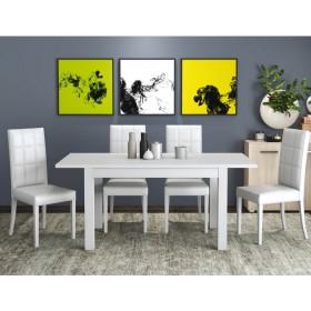 Tavolo estensibile colore bianco frassinato cm 110/150x70x76h Mod FIRENZE