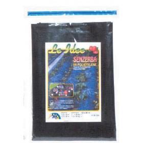 Telo pacciamatura copertura TNT nero antierbacce dimensioni m 1.60x50