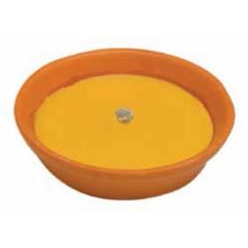 Citronella con ciotola in coccio e stoppino antivento diametro cm. 11 - casa giardino