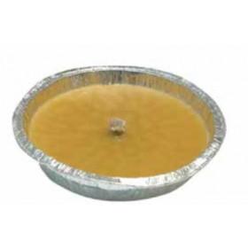 Citronella con ciotola in stagnola e stoppino antivento diametro cm. 11 - casa giardino