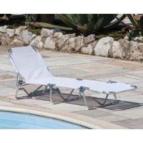 Lettino serie Playa struttura in alluminio colore blu - sedia giardino mare campeggio