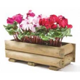 Cassetta per piante e fiori in legno di pino cm. 60x25x19 - arredo casa giardino balcone