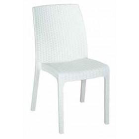 Sedia antracite in resina antiurto Mod. Virginia cm. 47x59x86h - arredo casa giardino