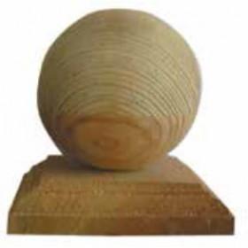 Sfera per rifinitura in legno di pino per pali cm. 9x9 - arredo casa giardino