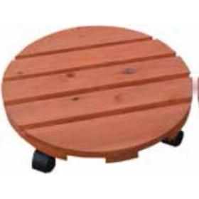 Sottovasi con ruote in legno trattato diametro cm. 35 - arredo casa giardino balcone