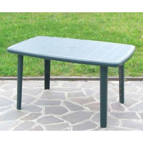 Tavolo verde in plastica antiurto cm. 137x85x72h - arredo casa giardino balcone