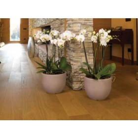 Vaso tondo in resina colore impruneta Mod. Conca ø cm. 30x23h - fioriera casa giardino