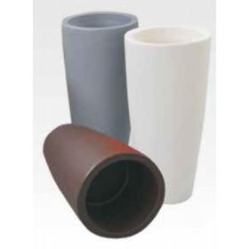Vaso design tondo in resina bianco ghiaccio Mod. Home ø cm. 33x70h per arredamento interno ed esterno - fioriera casa giardino