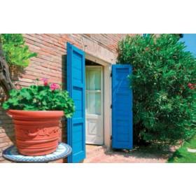 Vaso tondo in resina Mod. Prestige ø cm. 35x26h - fioriera casa giardino