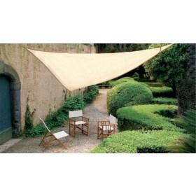 Vela ombreggiante triangolare verde in poliestere cm. 500x500x500 - arredo casa giardino ombrellone gazebo