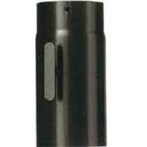 Tronchetto porcellanato pesante per tubi stufa verniciato nero opaco cm. 25 diametro cm. 12 con serranda - impianto riscaldamento casa