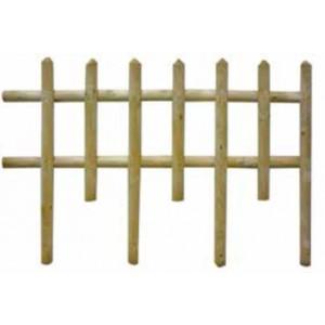 Steccato Mod. Ranch conf. 10 pz. in legno di pino impregnato cm. 120x83 - arredo casa giardino