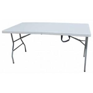 Tavolo pieghevole e richiudibile in HDPE con struttura in acciaio cm. 183x76x74h - casa giardino campeggio sagra