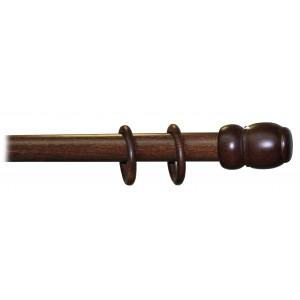 Bastone a strappo per tende ø 35 mm colore noce scuro lunghezza 150 cm