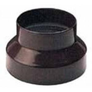 Riduzione per tubi stufa in acciaio verniciato marrone diametro cm. 11/8 - impianto riscaldamento casa