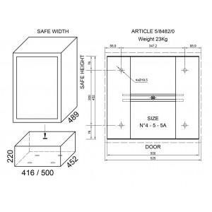 Piedistallo per cassaforte a mobile JUWEL cm 22 - Art 8482