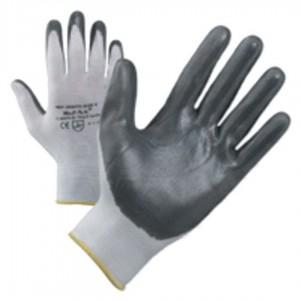 Guanti da lavoro nylon palmo nitrile NBR 13 ECO conf 12 paia tg 9