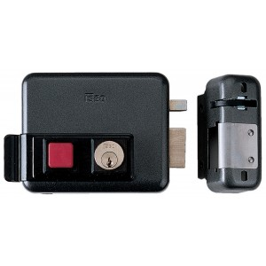 Serratura elettrica ISEO con pulsante entrata 60 mm scatola 129x99 mm