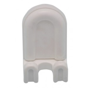 Appendiabiti bagno in ABS bianco - Art. 513