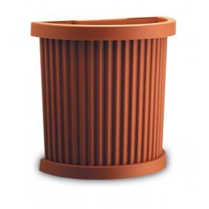 Vaso semicircolare in plastica PLASTECNIC cm 50x26x48h Mod EGEO