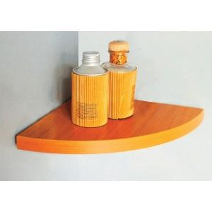 Mensola angolo in legno colore noce cm 50x50x1.8h bordo squadrato