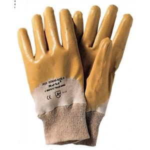 Guanti da lavoro nitrile giallo conf 12 paia tg 9 dorso areato