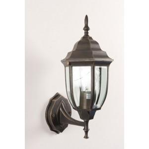 Lanterna Mod. Bombay in alluminio verniciato bronzo anticato con protezione in vetro per lampada da 60 W - casa giardino
