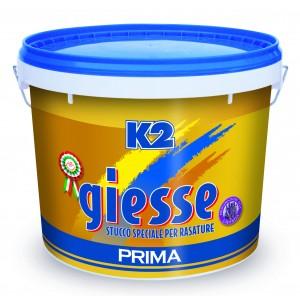 Stucco in pasta per rasature K2 GIESSE conf 20 kg pronto all'uso