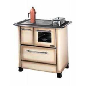 Cucina a legna Nordica Mod. Romantica 4.5 cappuccino 6.0 kW 172 m³ - stufa riscaldamento casa arredo interni