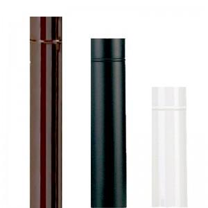 Tubo smaltato per stufa in acciaio porcellanato marrone cm. 100 diametro cm. 14 - impianto riscaldamento casa