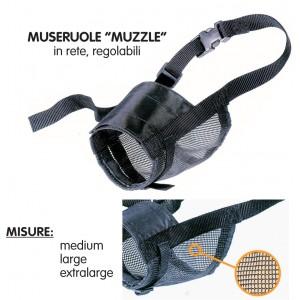 Museruola per cani in rete di nylon taglia XL Mod MUZZLE NET M