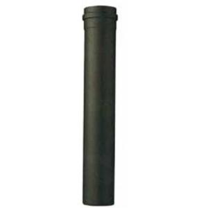 Tubo per stufa a pellet porcellanato nero opaco cm. 150 diametro cm. 8 - impianto riscaldamento casa