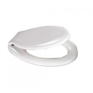 Sedile coprivaso universale bianco in termoplastica cm 37x47 - Mod.  S12 EXPORT 002
