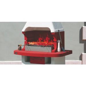 Parabrace cm. 60 in acciaio per Barbecue in muratura - casa giardino