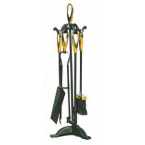 Set camino Mod. Elisse in acciaio composto da 4 attrezzi e supporto altezza cm. 65