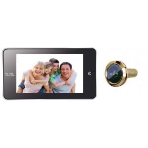 """Spioncino digitale finitura oro mm 139x77x16 schermo LCD 4.0"""" E0378"""