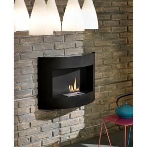 Stufa ecologica a bioetanolo a parete 3.5 kW/h Mod. Round - riscaldamento arredo casa design