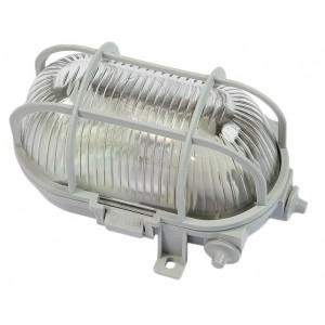 Plafoniera ovale con griglia 60W FME colore grigio IP44 Art 62.704