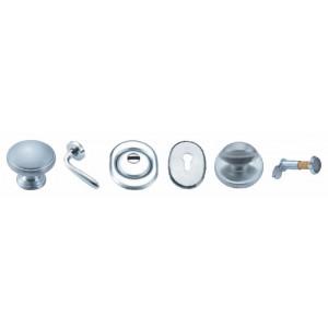 Kit accessori porta blindata mano DX cromo satinato per Mod. MERCURIO