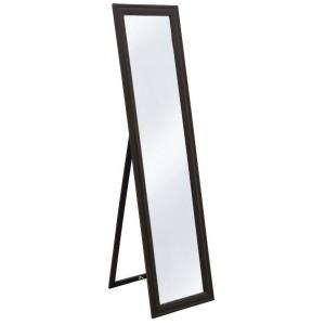 Specchio a pavimento struttura legno  laccato nero cm 40x160h