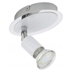 Lampada LED con faretto orientabile BRILONER bianco cromo attacco GU10