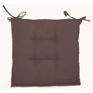 Cuscino poliestere cotone doppia imbottitura cm 40x40x5 marrone Mod CRETA