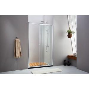Porta scorrevole doccia in cristallo 6 mm dimensioni cm 154/160 Mod LUSSO