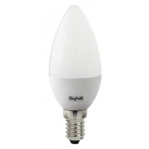Lampadina LED Mod OLIVA BEGHELLI 5W E14 luce fredda 6500K Art 56820