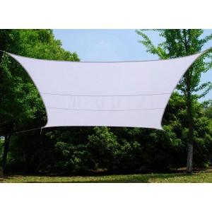 Vela quadrata bianca cm 500x500 telo in poliestere 160 g/mq con anelli