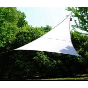 Vela triangolare bianca cm 500x500x500 telo in poliestere 160 g/mq